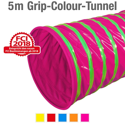 360° Grip-Colour-Tunnel, ø 60 cm, 500 cm